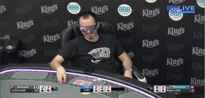 Will Kassouf at the 888poker Twitch channel