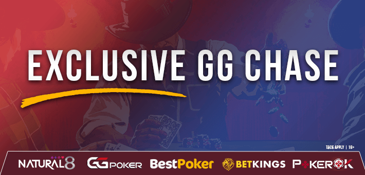 Earn up to 30% rakeback in our new Exclusive GG Chase!