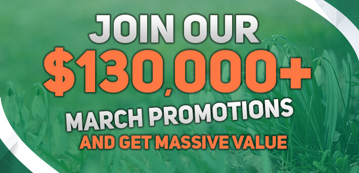 More than $130,000 in Exclusive VIP-Grinders Promotions March!