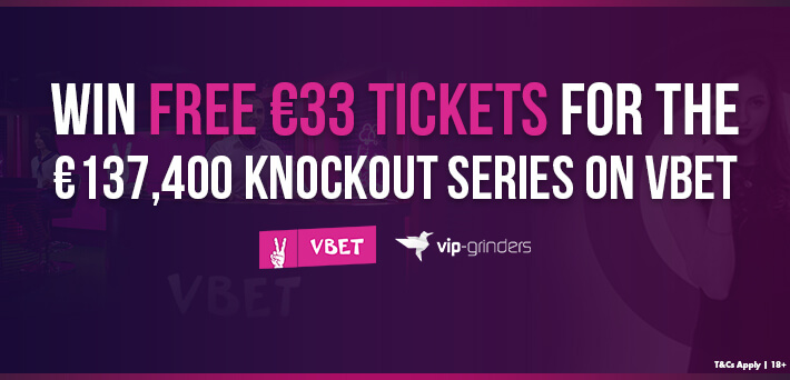 Win FREE €33 Tickets for the €137,400 Knockout Series on Vbet
