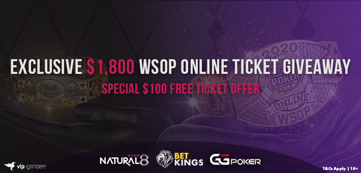 Our $1,800 WSOP Online Freeroll Series kicks off this Thursday!