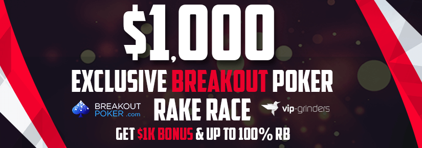 $1,000 Exclusive Breakout Rake Race