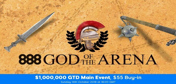 888poker celebrates launch of PKO tournaments and announcement of new software with $1.3 Million GTD God of the Arena Festival
