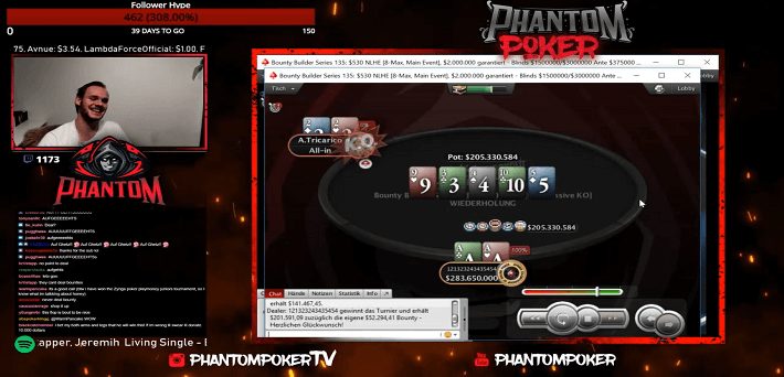 Watch 121323243435454 win the Bounty Builder Series Main Event for $306,000 and biggest Twitch score ever!