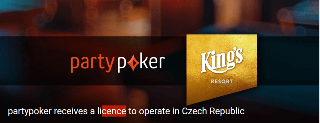 Partypoker receives licence for the Czech online poker market
