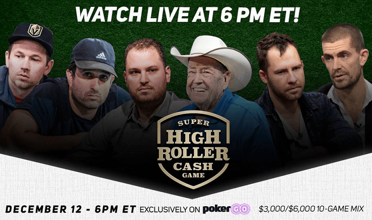 Lineup 2018 Super High Roller Cash Jogo
