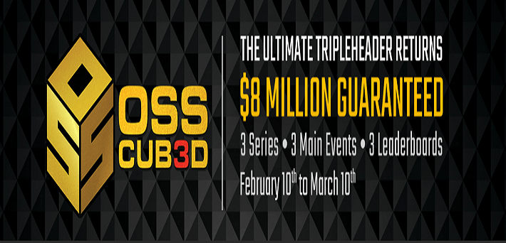 The $8,000,000 GTD Online Super Series Cub3d returns to ACR and Black Chip Poker