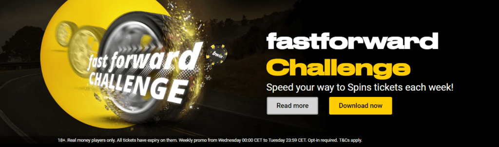 Take on the fastforward challenge at bwin Poker and win up to $500,000!