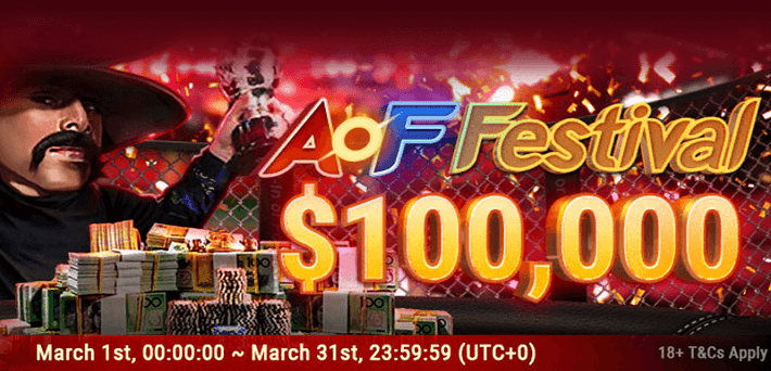 More than $100,000 up for grabs at the All In or Fold Festival at Bestpoker in March