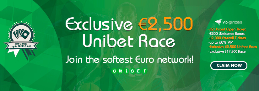 Exclusive €2,500 Unibet Race