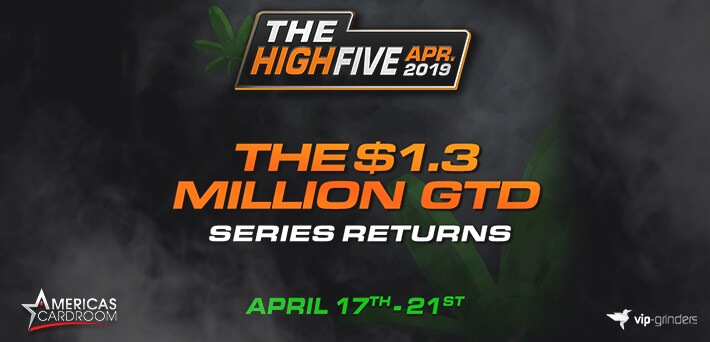 Americas Cardroom brings back the popular High Five Tournament Series