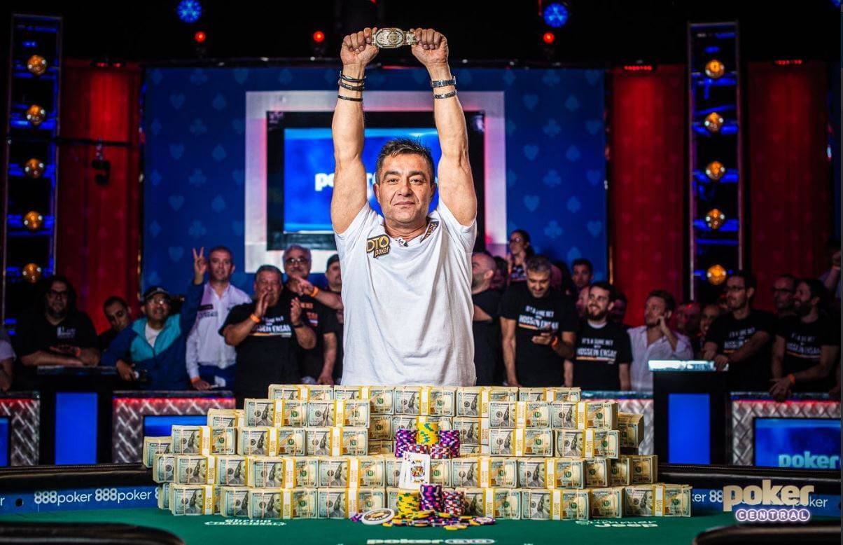 Hossein Ensan vence o Main Event do WSOP 2019 por $ 10.000.000 e é o novo Poker World Champion!