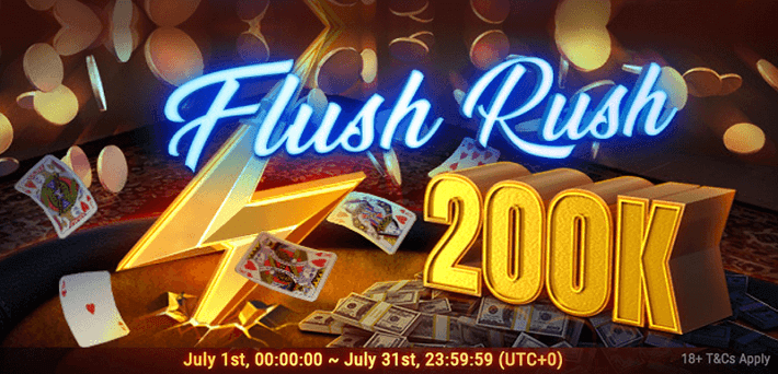 $200,000 up for grabs in the Flush Rush Leaderboard at GG Network in July!