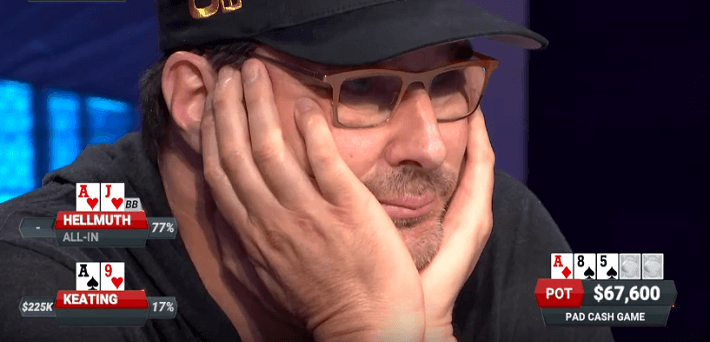 Phil Hellmuth doubles up then busts in back-to-back hands