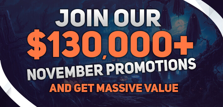 Over €130,000 GTD up for grabs in Exclusive VIP-Grinders Promotions in November!