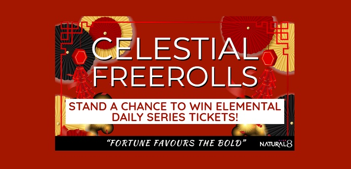 Natural8 Celestial Freerolls - Win Elemental Daily Series Tickets!