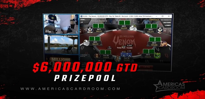 $6,000,000 Guaranteed Venom in the biggest online poker tournament ever held at WPN!