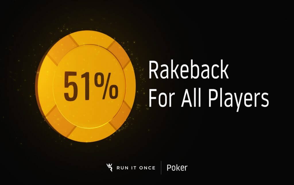51% Rakeback for all players