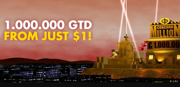 Win a FREE seat to the €1.000,000 GTD Concord Million at Betkings