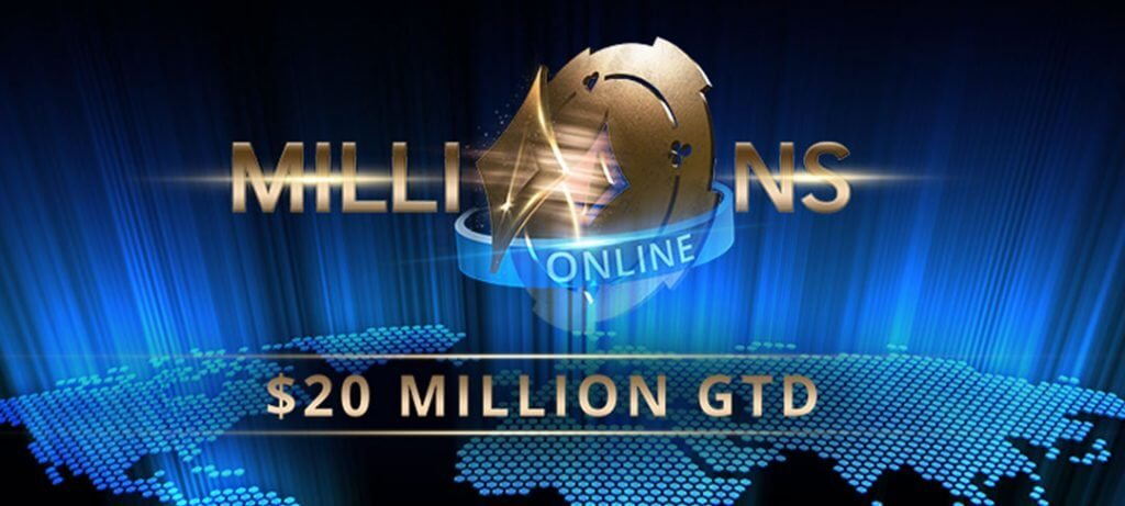 partypoker releases $20,000,000 GTD MILLIONS Online schedule and new SPINS App Layout