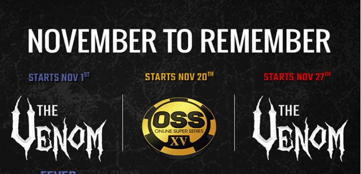 A November to Remember at Americas Cardroom's with $12,000,000 Million GTD OSS and $6 Million Venom