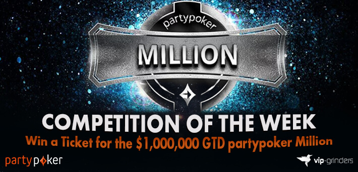 Like and Share this post on our Social Media and win a ticket for the $1,000,000 GTD partypoker Million!