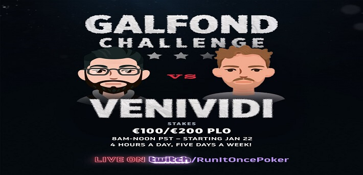 Galfond Challenge to be streamed live on Twitch Poker starting January 22nd!