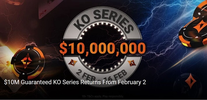 $10,000,000 GTD partypoker KO Series returns from February 2-16