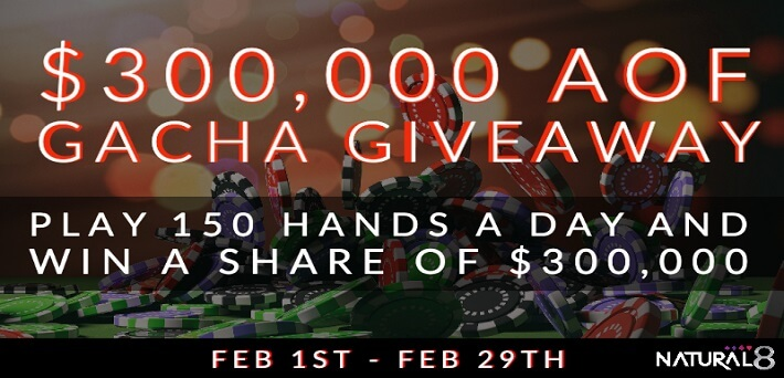 $300,000 All-In or Fold Gacha and ¥1,000,000 Short Deck Giveaway at GGNetwork in February
