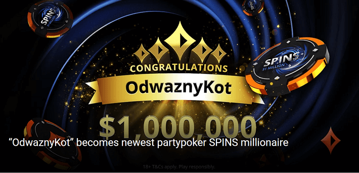 Russian player OdwaznyKot is the latest partypoker SPINS millionaire!