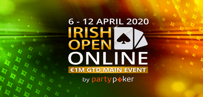 Irish Open 2020 to be played at partypoker with a massive $2,500,000 Guarantee