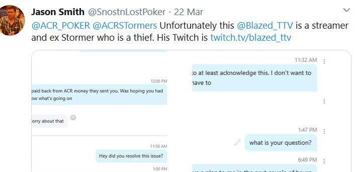 ACR Stormers out TwitchTV streamer 'Blazed_TTV' as scammer