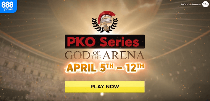 More than $1,000,000 Guaranteed at the 888poker God of the Arena PKO Series from April 5-12